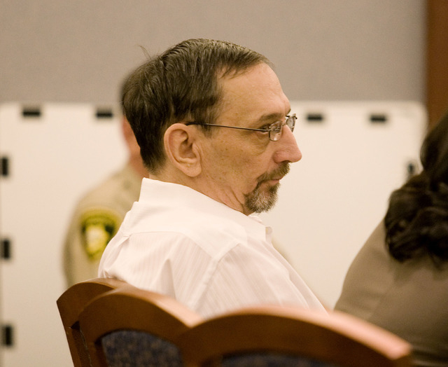 Charles Conner listens in Clark County District Court on Tuesday July 20, 2010, to the testimony from Las Vegas police Detective Kevin Manning during the penalty phase of his trial in connection w ...