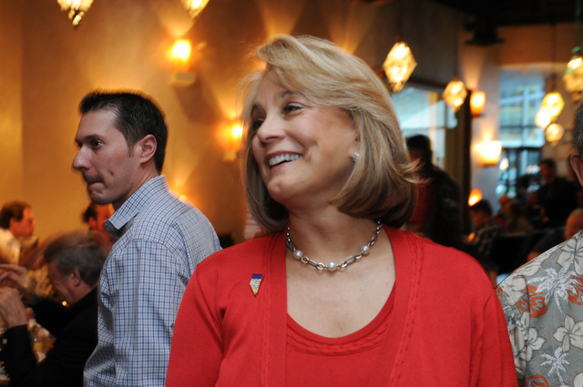 Republican lieutenant governor candidate Sue Lowden mingles at her election night party at Mundo restaurant in Las Vegas Tuesday, June 10, 2014. (Erik Verduzco/Las Vegas Review-Journal)