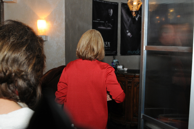 Republican lieutenant governor candidate Sue Lowden leaves her election night party at Mundo restaurant in Las Vegas after conceding her race against her opponent Tuesday, June 10, 2014. (Erik Ver ...