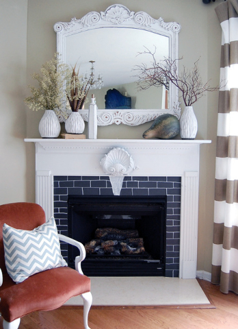 Photo © Myquillyn Smith, Courtesy Zondervan Myquillin Smith changed this hate-at-first-sight fireplace by drawing bricks on chalkboard contact paper. It has been featured in Better Homes and Gard ...