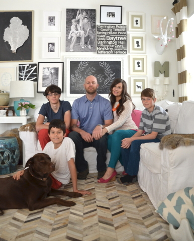Courtesy Zondervan Blogger, author and self-taught decorator Myquillyn Smith and her husband, Chad, have three sons, Landis, left, Gavin and Cademon.
