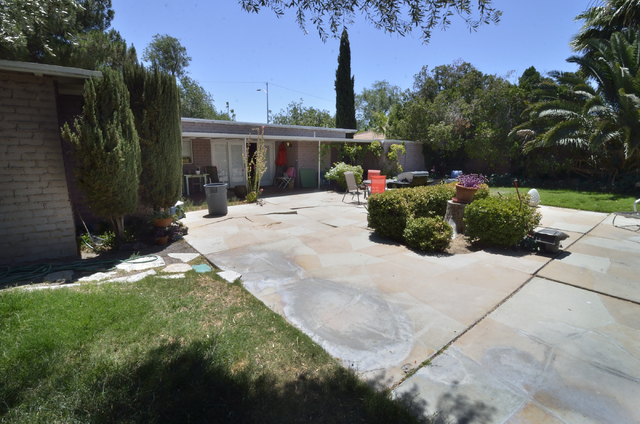 Bill Hughes/Las Vegas Review-Journal When Dayvid Figler first looked at this property he was impressed with the yard, over a third of an acre with tall trees, grapevines, fruit trees, garden beds.