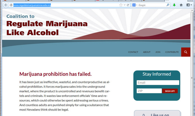 A pro-marijuana group is seeking to legalize the recreational use of the drug in Nevada. (Courtesy)