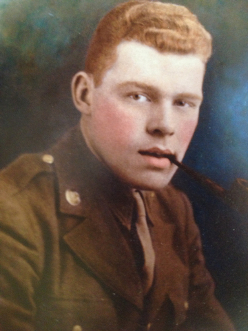 "Pvt. Ed Jennings appears in an undated World War II portrait. The picture is on the cover of the book about his Army letters, ""Your Loving Son, 'Ed,'"" by Fern Jennings."