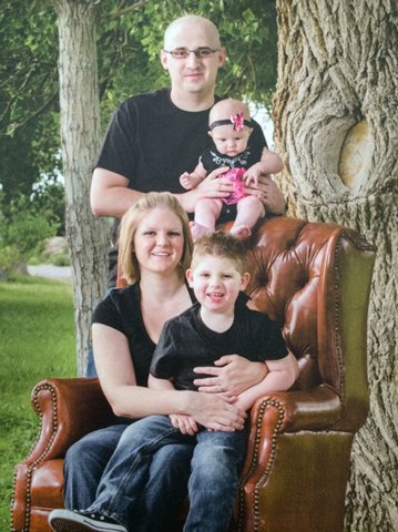 The Drossulis family include Alex (dad), Amanda (mom), Ethan and baby Kaelyn, seen here in September 2012. (SPECIAL TO VIEW)