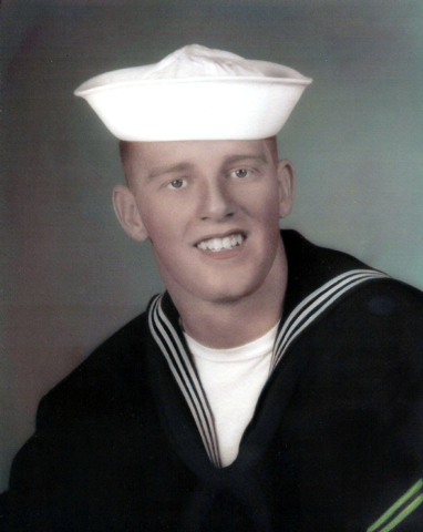 Ron Deanne poses in his U.S. Navy uniform in this courtesy photo dated 1965. Deane is a Vietnam era veteran and a student of history. (Photo courtesy of Ron Deanne)