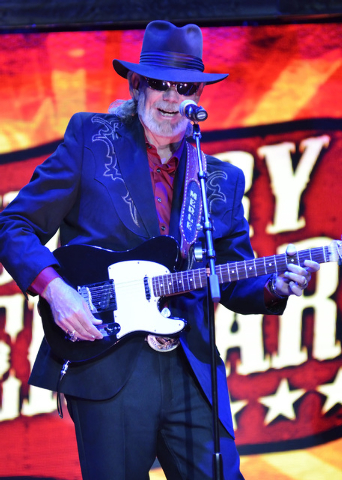"Sam Dailey performs as Merle Haggard during ""Country Superstars"" at the V Theater in the Miracle Mile Shops at the Planet Hollywood hotel-casino at 3667 Las Vegas Blvd., South, on Thursd ..."