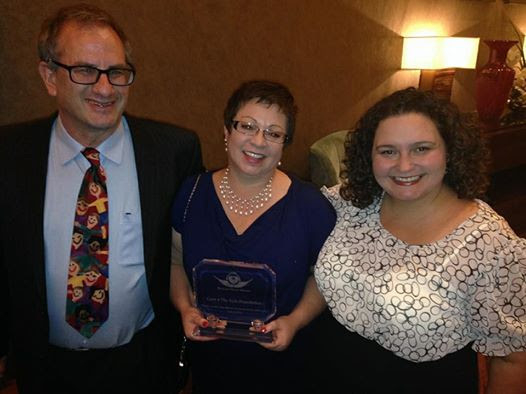Dawn Marie Pavuk, from left, Annette Logan and Dr. Jonathan Bernstein are seen at the Clark County Medical Society awards. (Courtesy)