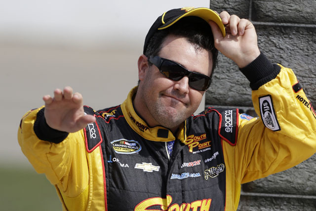 Brendan Gaughan won Saturday's NASCAR Nationwide Series race at Elkhart Lake, Wis. It was the Las Vegan's first career victory in 98 Nationwide starts. (File)