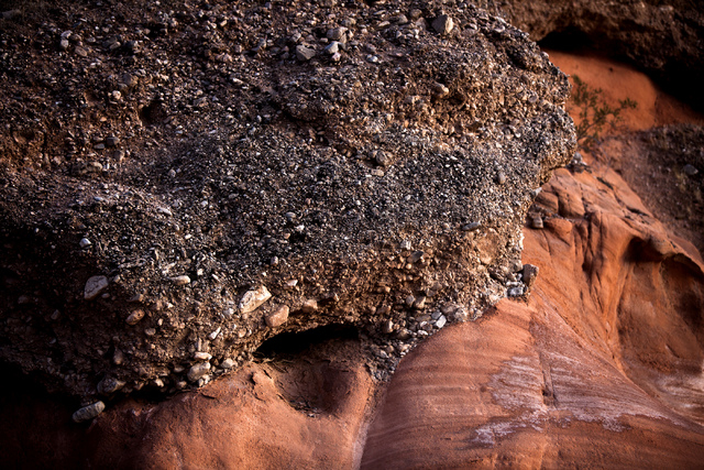Rock formations as seen Thursday, May 22, 2014 in the Gold Butte area. The Gold Butte Region, administered by the BLM and the U.S. National Park Service, is about 2 1/2 hours east of Las Vegas. Th ...