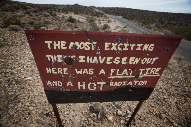 A sign is posted in the Gold Butte area. The Gold Butte Region, administered by the BLM and the U.S. National Park Service, is about 2 1/2 hours east of Las Vegas. The area is popular for off-road ...
