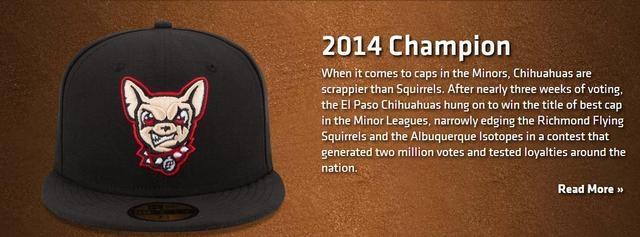 c81f5100c4621 El Paso Chihuahuas have top cap in minor league baseball