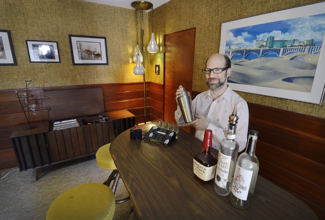 Dayvid Figler is shown in the lounge at his home near the intersection of 6th Street and Charleston Boulevard in Las Vegas on Friday, June 13, 2014. (Bill Hughes/Las Vegas Review-Journal)