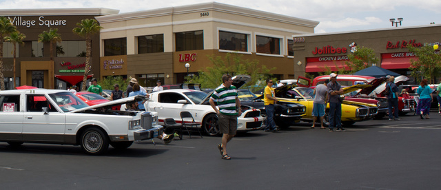 Plenty of cool cars are seen May 24 at the Hot Rods and Hot Coffee Antique and Custom Car Show at Village Square, 9400 W. Sahara Ave. The event, hosted by Avery's Coffee, benefited the Juvenile  ...