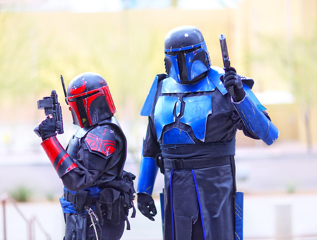 Fans dressed as science fiction characters pose during the 2013 Amazing Las Vegas Vegas Comic Con held at the South Point. Convention organizer Jimmy Jay said 20,000 people attended the weekend-lo ...