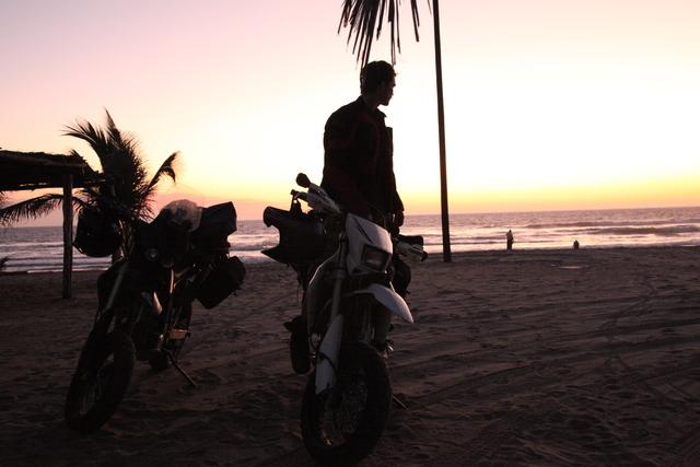 Bikes at sunset.