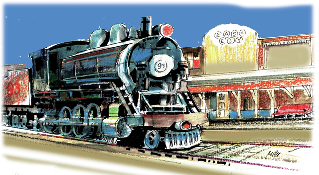 The Nevada Northern, a heritage railroad, offers train rides into Nevada's past. (MIKE MILLER/SPECIAL TO THE LAS VEGAS REVIEW-JOURNAL)