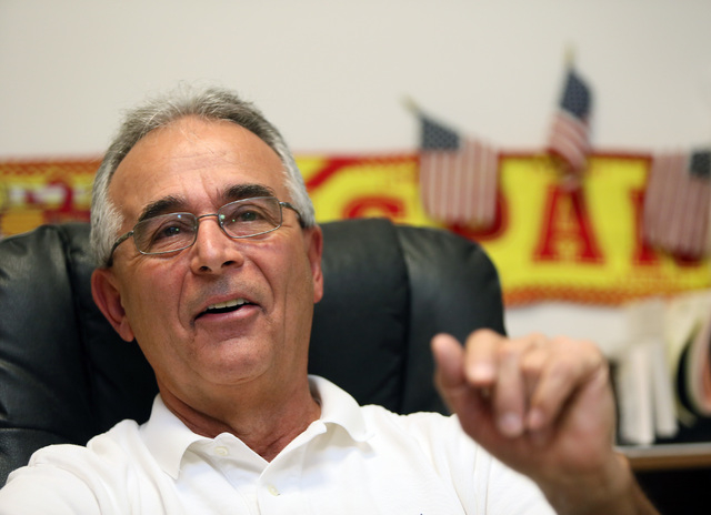 Barry Barto, associate athletic director of special projects and community development for UNLV, speaks during an interview at his office on campus Friday, June 20, 2014, in Las Vegas. Barto, who  ...