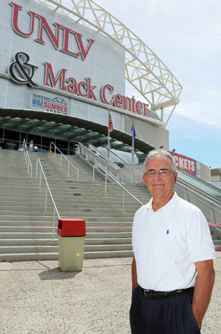 Barry Barto, associate athletic director of special projects and community development for UNLV, stands outside Thomas & Mack Center at UNLV Friday, June 20, 2014, in Las Vegas. Barto, who is a fo ...