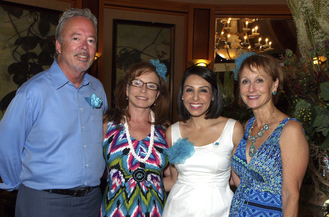 Tim Quillin, from left, Judy Stokey, Melinda Gluck and Annette Kinsman (Marian Umhoefer/Las Vegas Review-Journal)