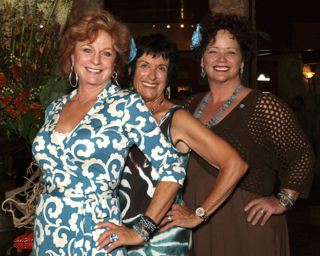 Connie Jones, from left, Marilyn Gubler and Linn Billingsley (Marian Umhoefer/Las Vegas Review-Journal)