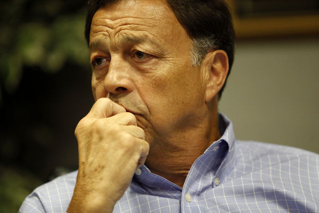 Former UNLV athletic director Jim Livengood foresaw realignment of the power conferences in NCAA football. (John Locher/Las Vegas Review-Journal File)