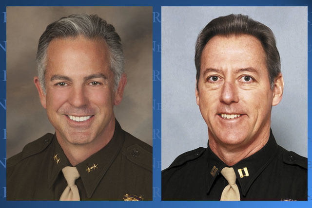 Las Vegas police Assistant Sheriff Joseph Lombardo and retired Captain Larry Burns. (File)