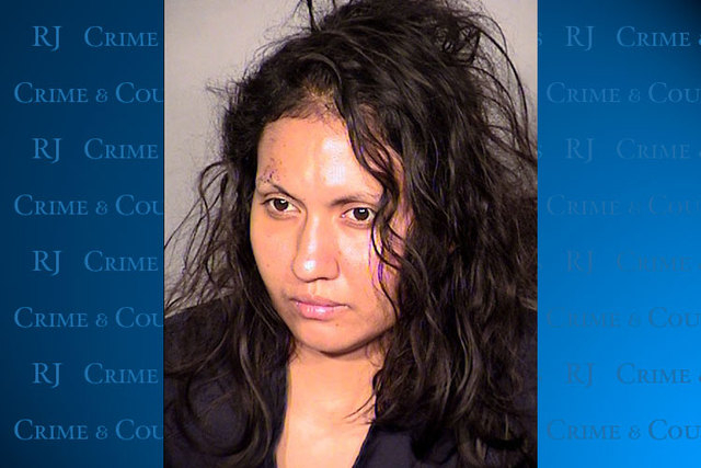 Robledo Ibarra, 34, faces felony charges after police say she tossed her two young children and herself out a second-story window on June 12, 2014. A jail official told Las Vegas Justice of the Pe ...