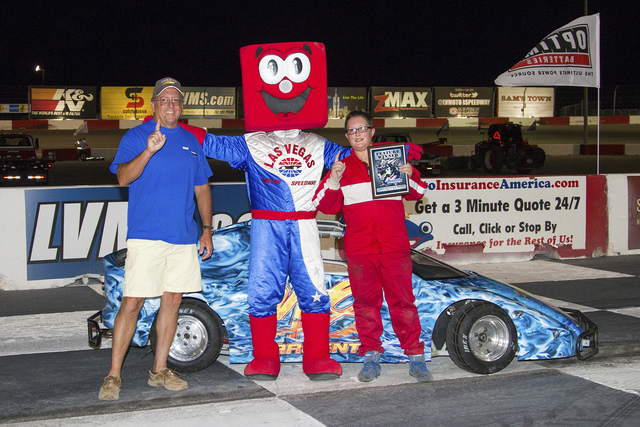 The father-son duo of Don Sargent, 48, and Mason Sargent, 11, are leading their respective classes at the Bullring at Las Vegas Motor Speedway as the season nears its midpoint. Left, Don Sargent c ...