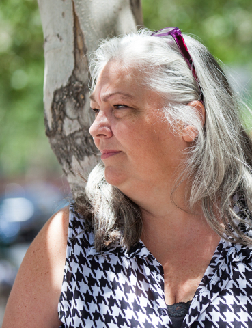 Public defender Christy Craig poses for a photo near the Regional Justice Center in downtown Las Vegas on Friday, June 13, 2014. (Chase Stevens/Las Vegas Review-Journal)