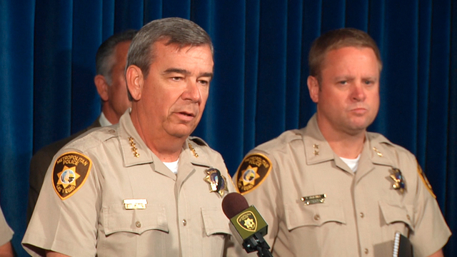 Metro police held a press conference and released surveillance video from Wal-Mart that shows the two suspects in Sunday's ambush and shooting deaths of two Las Vegas police officers and another m ...