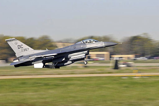 This photo from November's accident investigation report shows an F-16 from the District of Columbia National Guard taking off from Joint Base Andrews, Md. The aircraft is like the one that crashe ...