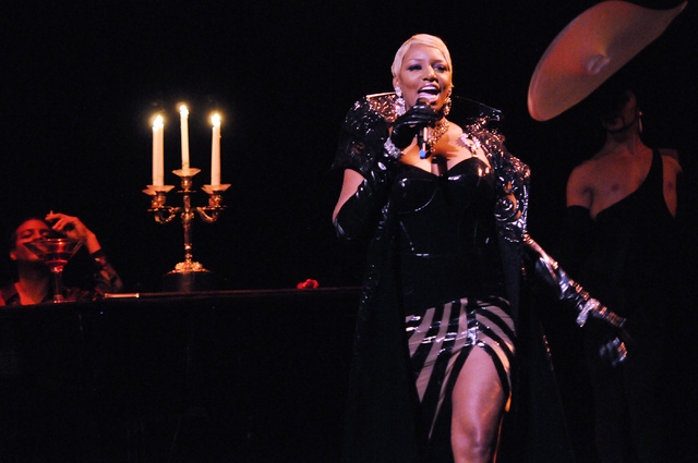 NeNe Leakes, an actress and reality show celebrity, performs during a media event at the Zumanity Theatre inside New York-New York in Las Vegas Monday, June 23, 2014. (Erik Verduzco/Las Vegas Revi ...