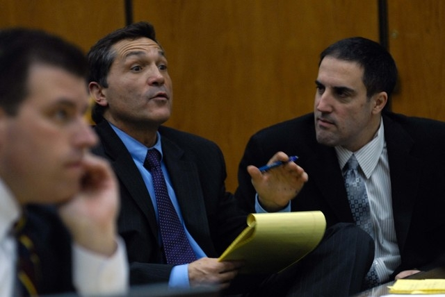 FILE*** Darren Mack, right, listens as his attorney William Routsis questions Mack's brother, Landon, during a hearing on Jan. 15, 2008, where Darren Mack was attempting to withdraw his guilty ple ...