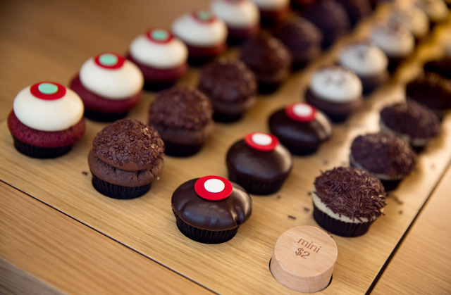 Mini Sprinkles cupcakes are photographed at the bakery inside The Linq on Thursday, June 19, 2014. The cupcake and ice cream shop opened in March, making the Las Vegas location the 15th store for  ...