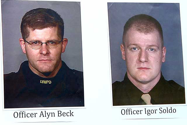 Las Vegas Metro identified Two Las Vegas police officers, Alyn Beck and Igor Soldo, who were killed Sunday in an apparent ambush attack at CiCi's Pizza, 309 N. Nellis Boulevard, at about 11 ...