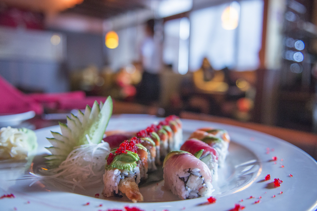 A variety of sushi and sashimi available at Ohjah Japanese Steakhouse in Las Vegas on Saturday, May 24, 2014. The restaurant has been open for over two years and features sushi and hibachi. (Jacob ...