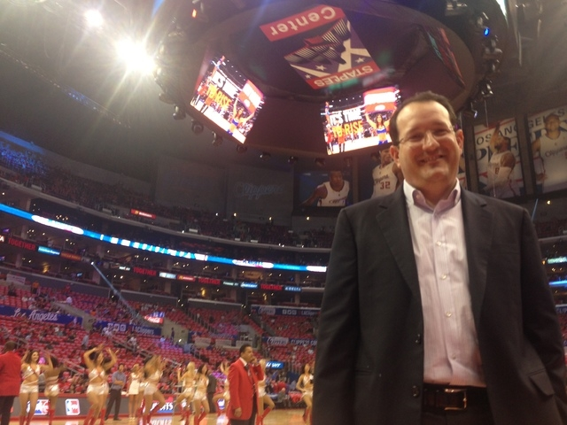 Dan Beckerman, AEG chief executive, before a Los Angeles Clippers playoff game with the Oklahoma City Thunder at the Staples Center, which is owned by AEG. (Alan Snel/Las Vegas Review-Journal).