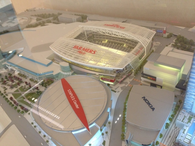 AEG is trying to recruit an NFL team to Los Angeles and has planned a $1.2 billion football stadium next to the Staples Center at LA Live in downtown Los Angeles. (Alan Snel/Las Vegas Review-Journal)