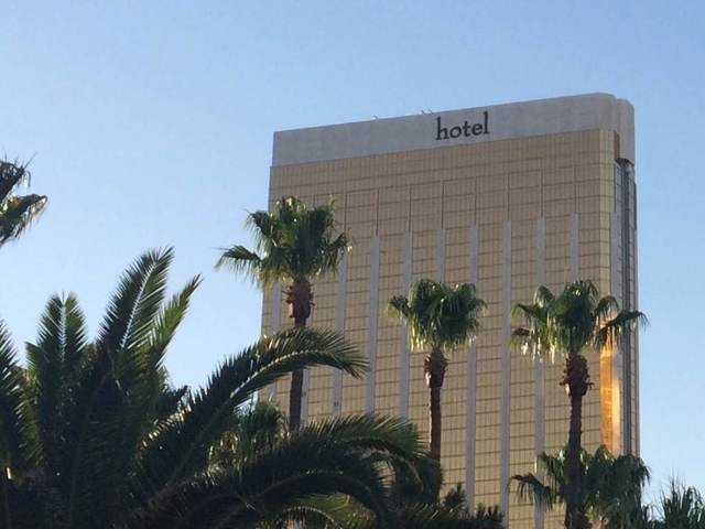 The signage at The Hotel Mandalay Bay is beginning to make way for the new Delano Las Vegas as seen on Friday, June 13, 2014. (Stephanie Grimes/Las Vegas Review-Journal)