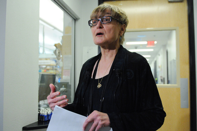 Pat Armour, laboratory manager at Southern Nevada Public Health Laboratory in Las Vegas, gives the facility's first media tour after 10 years of operation Wednesday, June 11, 2014. (Erik Verduzco/ ...