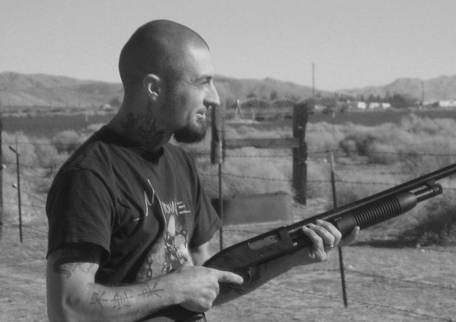 Ryan Marone, 37, poses with a gun in a photo he posted on Facebook in March. Marone was shot and killed by Henderson police on Monday after police said he shot at officers, injuring one. (Courtesy ...