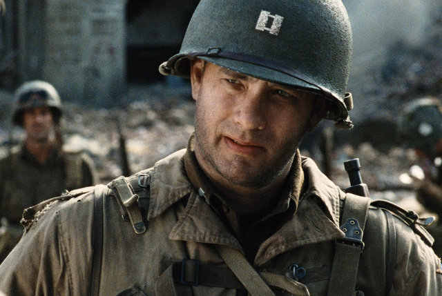 "Tom Hanks in ""Saving Private Ryan"" (DreamWorks Pictures)"