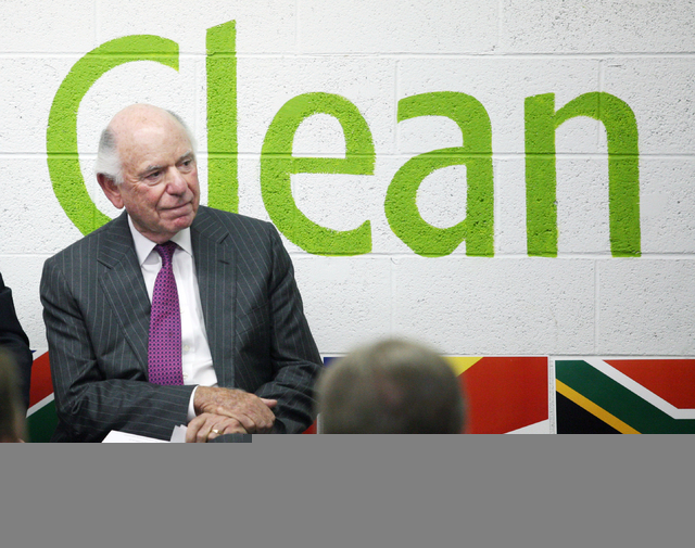 Michael Leven, president and chief operating officer of Las Vegas Sands Corp., participates in a news conference at Clean the World Wednesday, June 11, 2014, in Las Vegas. The Las Vegas Sands Corp ...