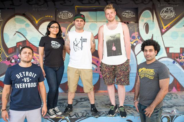 Pictured left to right: Jacob Gallegos, Heela Naqshband, Shahab Zargari, Ryan Brunty, Shahram Reza Zargari Not pictured: Zabi Naqshband. (Courtesy)