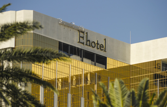 The signage at The Hotel Mandalay Bay is beginning to make way for the new Delano Las Vegas as seen on Friday, June 13, 2014. (Mark Damon/Las Vegas Review-Journal)