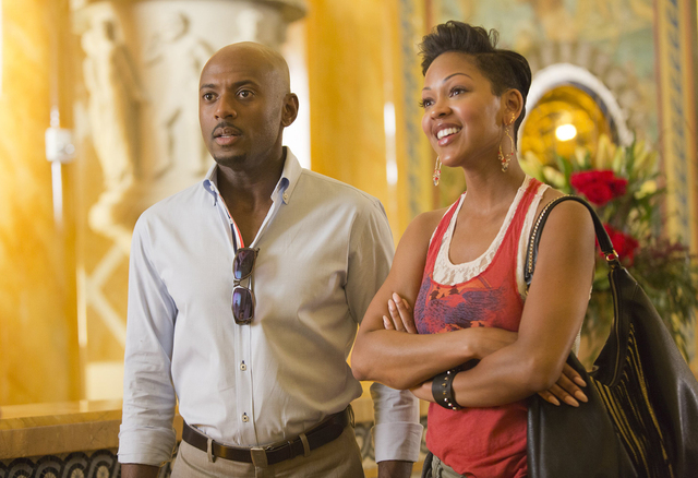 """Zeke (Romany Malco) and Mya (Meagan Good) appear in a scene from """"Think Like a Man Too."""" (Courtesy Screen Gems Productions)"""