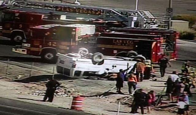 4 injured in single-vehicle accident on U S  95 | Las Vegas