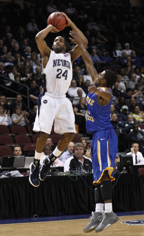 UNR point guard Deonte Burton has proved to be a prolific scorer and playmaker, but some NBA scouts may be troubled by his problems shooting 3-pointers.  (John Locher/Las Vegas Review-Journal)