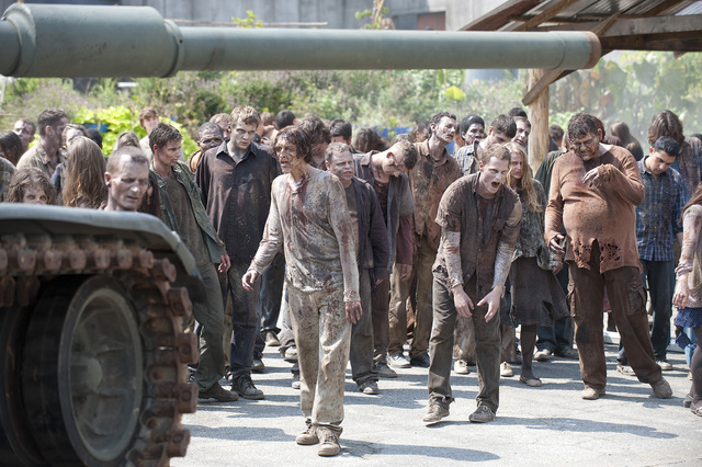 """Participants at Combat Con can attend a boot camp that promises """"an opportunity to go through the same training that zombies on 'The Walking Dead' go through."""" (Gene Page/AMC)"""